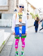 Harajuku Guy in Andrea Crews Jacket, Moschino Tee & Ground Zero Leggings