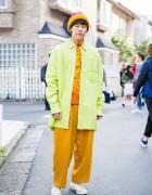 Harajuku Guy in Yohji Yamamoto Coat, Kenzo Shirt & Converse Sneakers