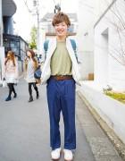Harajuku Guy in H&M, Takeo Kikuchi, Forever21 & New Balance
