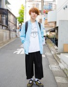 Harajuku Guy in Morph8ne Tee, Onitsuka Tiger Sneakers, Uniqlo & WEGO