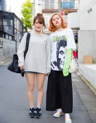Harajuku Girls in Vetements x Misfits, Keith Haring, Ralph Lauren & OZOC
