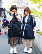 Harajuku Girls in Black Skirts, Rucksacks & Tokyo Bopper Rocking Horse Shoes w/ Adidas, GU, Nixon & Resale Pieces
