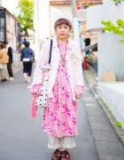 Harajuku Girl in Resale Items w/ Kiro Shop, Flamingo, Dr. Martens, Horuro & Reinette et Mirabelle