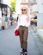 Fendi Animal Print, Chanel Bag & Stella McCartney Sandals in Harajuku