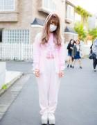 Harajuku Idol Rinpumora in Pink Street Style w/ Panama Boy, Spinns & Swimmer