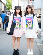 Harajuku Girls in Punyus Sweatshirts, w/ WC, WEGO & Platforms