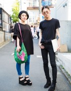 Harajuku Duo in Gareth Pugh, Maison Margiela, Saint Laurent, Uniqlo & Vivienne Westwood