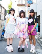 Harajuku Girls in Kawaii Fashion by Peco Club, Bubbles, Nile Perch, Swan Kiss & Little Mermaid