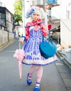 Pastel Haired Harajuku Lolita in Angelic Pretty & Vivienne Westwood