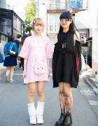 Harajuku Girls in Pink & Black w/ Drinkscancode, 2.Xjigen, Avantgarde, Candye Syrup & UNIF