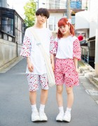 Supercute Harajuku Couple in Matching Remake Fashion & Tokyo Bopper