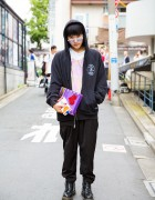 Harajuku Guy in Richardson Hoodie, Experts Disagree, Olympia Le-Tan, Dr. Martens and Moschino