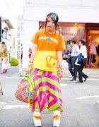 Harajuku Girl in Colorful Kawaii Fashion w/ Baby Doll, Kinji & Yoshida Beads