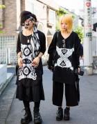 Harajuku Goth Street Styles w/ Oversized M:E T-Shirts, Barokue & Demonia