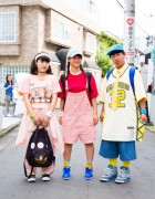 Harajuku Trio in Sporty Cute Fashion w/ Nike, Converse, Adidas, San to Nibun no Ichi & More