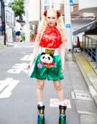 Asian-Inspired Harajuku Street Style w/ Muay Thai Shorts, Himitsu Gadget, YRU
