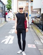 Harajuku Guy in Minimalist Fashion w/ Itokawa Film, Christian Dada, Converse, Valentino & Dior
