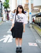 Harajuku Girl in Mickey & Minnie Mouse Tee, A.D.G., Bubbles & Yosuke