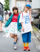 P-Chan & Karin Tempura Kidz on The Street in Harajuku w/ Sporty Chic Fashion