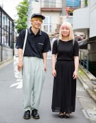 Harajuku Duo in Minimalist Street Styles w/ Kenzo, Studious & Lowrys Farm