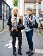 Harajuku Duo in Milkboy, Vivienne Westwood, Plaid & Platform Shoes