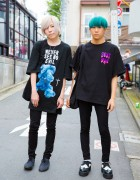 Harajuku Guys in Black  Fashion w/ MYOB NYC, More Than Dope, Milk Boy, Uniqlo & Banana Republic