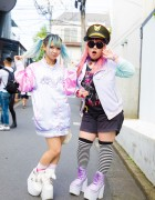 Pastel-Haired Harajuku Girls in Colorful Fashion w/ Listen Flavor, Liz Lisa, Yosuke & 6%DokiDoki