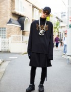 Dark Harajuku Street Style w/ From K to ALL, Givenchy, Raf Simons, Alexander Wang & Heaven Tanudiredja