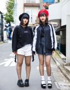 Harajuku Girls in Berets, Fishnets & Platforms w/ Bubbles Tokyo & Never Mind the XU
