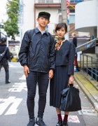 Harajuku Duo in Minimalist Style w/ Comme des Garcons, Cote&Ciel, Azul & Dr. Martens