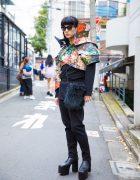 Harajuku Guy in Comme des Garcons, Balenciaga & Room Boy Pony Street Fashion