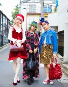 Harajuku Girls in Colorful Vintage Fashion w/ Burberry, Grimoire, Vivienne Westwood, Coach & Tokyo Bopper