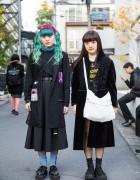Harajuku Girls in Dark Street Fashion w/ Vivienne Westwood, Funky Fruit & Tokyo Bopper