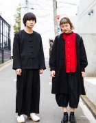Harajuku Duo in Vintage Fashion w/ Comme des Garcons, Tokyo Bopper & an/eddy x nakamura coubou