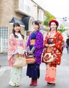 Chic Vintage Kimono Street Fashion in Harajuku