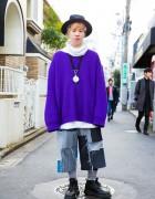 Nozomi Ishiguro Patchwork Denim Shorts, Dr. Martens & Vivienne Westwood in Harajuku