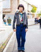 Harajuku Girl in Retro Style Fashion w/ Ghost Busters & Resale Clothing