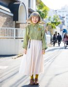 Harajuku Girl in Remake Fashion w/ Ashinaga Ojisan, Nadia & Pylones