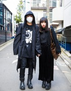 Dark Harajuku Street Styles w/ Long Clothing x Mishka, Shibuya 109, Chanel, LHP & Bubbles