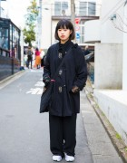 Harajuku Girl in Resale Street Style w/ 8 Seconds & Nike Air Rift Tabi Sneakers