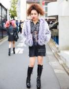 Harajuku Girl in Pin Nap Vintage, Bubbles, mii mariabonita & VidaKush