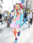 Harajuku Kawaii Model Kurebayashi in Cute Fashion by Zetsukigu, Yoshida Beads, Listen Flavor & Funky Fruit