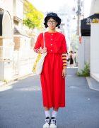 Harajuku Girl in Glasses w/ Handmade & Resale Fashion, Mugendo & Tokyo Bopper
