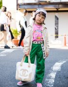 6-year-old Coco's Cool Harajuku Street Style w/ Funktique, Faith Tokyo, Supreme & Chanel