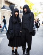 All Black Japanese Minimalist Fashion w/ Comme des Garcons, Jean Paul Gaultier, Yohji Yamamoto, Kawa Kawa & Monomania