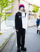 Harajuku Guy w/ Pink & Blue Hair in Fashion by Morph8ne, XU, Demonia & Alice Black