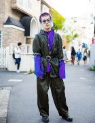 Purple & Blue-Hair & Resale Street Fashion w/ Kinji Harajuku & L.T. Tokyo