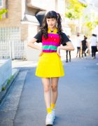 Harajuku Model/Actress in Colorful Vintage Fashion, Ralph Lauren & Thank-You Mart