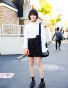 Monochrome Harajuku Street Style w/ Yohji Yamamoto, Studious Japan, Bubbles & Dr. Martens