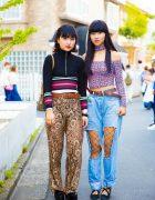 Harajuku Girls Street Styles w/ Candy Stripper, Moschino, Peach John, American Apparel, Grail & YSL